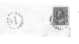 1920 Barkway Post Office stamp