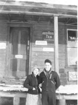 1948 Barkway Store Mrs John Clement and son Howard