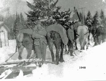 1948 Snow Ploughing Barkway