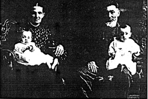 Ira and Charlotte Davy with twin grandchildren