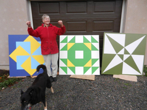 Three Painted Quilts