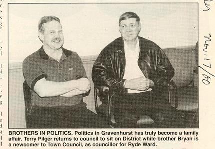 Terry & Bryan Pilger, Councillors 2000
