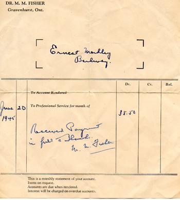 Doctor Receipt 1945