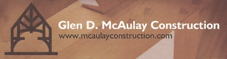 Glen D. McAulay Construction Logo